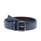 토키오 컬러 그리드 레더 벨트 (블루)