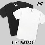 [유니어패럴] UNIAPPAREL 베이직 포켓 반팔티 2 in 1 Package