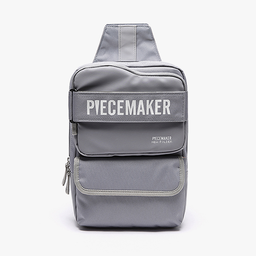 [피스메이커]PIECE MAKER - NEW FOLDER SLING BAG (L.GREY) 뉴폴더 슬링백