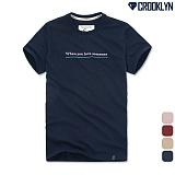 [크루클린] CROOKLYN When자수 반팔 티셔츠 TRS105 반팔티