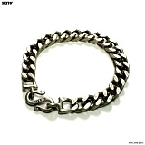 SEXTO - [Handmade]TS Chain bracelet Vintage Silver 팔찌 체인