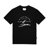 [플랫피티] FLATFITTY - ENJOY SURF T-SHIRT (BLACK) 반팔 반팔티 반팔티셔츠