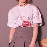 [라지크] RAZK X PANTA ROSE MEAN T-SHIRT (WHITE) 반팔 반팔티 티셔츠 판타 콜라보