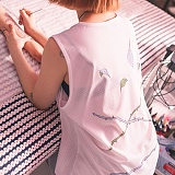 [라지크] RAZK X PANTA TWO ROSE SLEEVELESS (WHITE) 나시티 민소매 슬리브리스 판타 콜라보 나시
