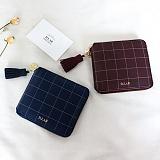 [디랩]D.LAB - Check zipper wallet - 3color 지퍼지갑 지퍼반지갑 지갑