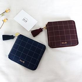 [디랩]D.LAB -  스트랩증정 Check zipper wallet - 3 color   지갑