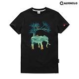 [단독][앨빈클로]AST-3861 몽환적인 엘리펀트 반팔 반팔티 티셔츠