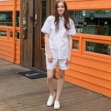 [디플로우]DEFLOW - STRIPE HALF PANTS(WHITE) 반바지