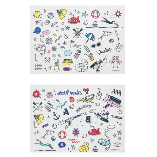 [여름기획상품][에이비로드] ABROAD - [2개세트] 2Much Tatto Sticker (2 set) 타투 스티커