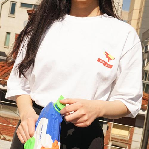 [에이비로드] ABROAD - Water Gun Half T-Shirts (red) 반팔티 반팔