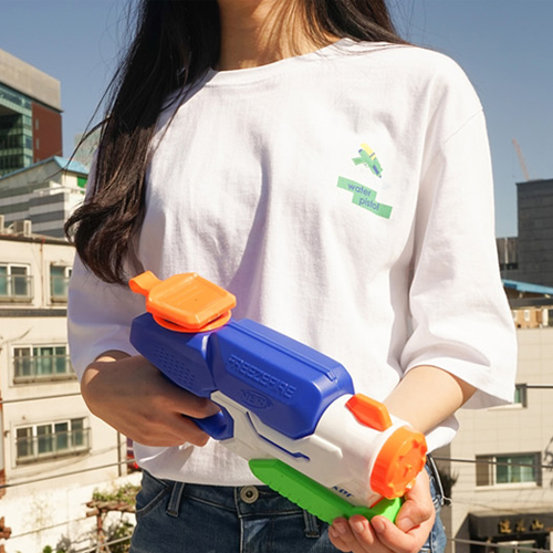 [에이비로드] ABROAD - Water Gun Half T-Shirts (green) 반팔티 반팔