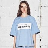 [어나더프레임] ANOTHER FRAME - AF SQUARE ZIPPER T-SHIRT (SKY BLUE) 반팔티 반팔 티셔츠