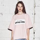 [어나더프레임] ANOTHER FRAME - AF SQUARE ZIPPER T-SHIRT (PINK) 반팔티 반팔 티셔츠