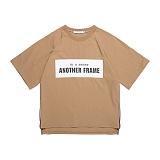 [어나더프레임] ANOTHER FRAME - AF SQUARE ZIPPER T-SHIRT (BEIGE) 반팔티 반팔 티셔츠