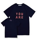 [어나더프레임] ANOTHER FRAME - YOU ARE COLOR T-SHIRT (NAVY) 반팔티 반팔 티셔츠