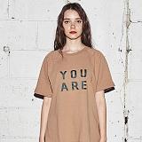 [어나더프레임] ANOTHER FRAME - YOU ARE COLOR T-SHIRT (BEIGE) 반팔티 반팔 티셔츠