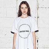 [어나더프레임] ANOTHER FRAME - AF CIRCLE T-SHIRT (WHITE) 반팔티 반팔 티셔츠
