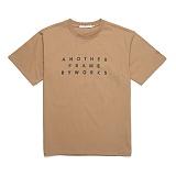 [어나더프레임] ANOTHER FRAME - AF BIG TYPO T-SHIRT (BEIGE) 반팔티 반팔 티셔츠