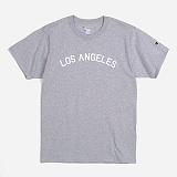 [Champion]챔피온 CREW NECK 1/2 T-SHIRT (LOS ANGELES) GREY 크루넥 반팔티 정품 국내배송
