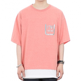 [쟈니웨스트] JHONNYWEST - Scotch Layered Xmesh (Future Pink) 반팔 반팔티 티셔츠 레이어드 레이어드티셔츠