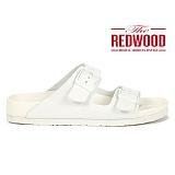 [레드우드]REDWOOD - MONO POOL SLIDERS WHITE_모노 풀 슬라이더 화이트 샌들 슬리퍼