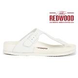 [레드우드]REDWOOD - MONO POOL THONGS WHITE_모노 풀 텅 화이트 샌들 쪼리