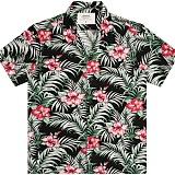 [언더에어] UNDER AIR Tropical Night Aloha Shirt(U) - Black 하와이안 셔츠 남방 반팔셔츠