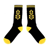 [레벨에잇]REBEL 8 LOGO SOCKS (BLACK/YELLOW) 삭스 양말