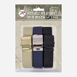 [로스코]ROTHCO - 3 PACK WEB BELT (BLACK+NAVY+KHAKI) 3팩 벨트