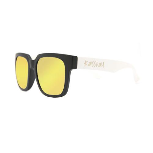 [케슬러] KESSLER - CLOUD BK-WH_GOLD 선글라스 선글 미러 미러선글라스 골드미러 MIRROR 안경 아이웨어 SUNGLASS