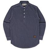 [언더에어] UNDER AIR Triple Henley Neck Basic Shirts - Navy 셔츠 남방