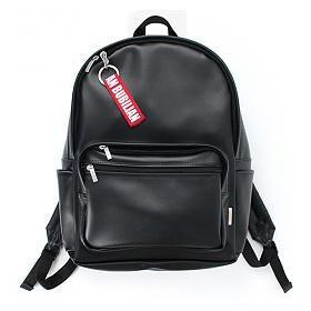 [버빌리안]BUBILIAN - Leather backpack _ Black 레더 백팩 가죽 가방
