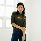 [매스노운]MASSNOUN Unisex T-Shirt - FIRE NAMED - MUSTS001-KK 유니섹스 파이어 네임드 반팔티