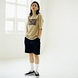 [매스노운]MASSNOUN Unisex T-Shirt - COMBINE - MUSTS008-BG 유니섹스 컴바인 반팔티