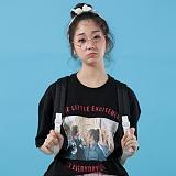 [플랩비]FLAPB - LIFE OVERFIT T-SHIRTS (BLACK)★와펜증정★ 반팔 반팔티 티셔츠 오버핏 트윈룩 전사티 프린트 플랩비티셔츠
