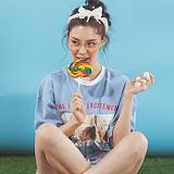 [플랩비]FLAPB - LIFE OVERFIT T-SHIRTS (SKY BLUE)★와펜증정★ 반팔 반팔티 티셔츠 오버핏 트윈룩 전사티 프린트 플랩비티셔츠
