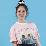 [플랩비]FLAPB - LIFE OVERFIT T-SHIRTS (PINK)★와펜증정★ 반팔 반팔티 티셔츠 오버핏 트윈룩 전사티 프린트 플랩비티셔츠