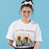 [플랩비]FLAPB - LIFE OVERFIT T-SHIRTS (WHITE)★와펜증정★ 반팔 반팔티 티셔츠 오버핏 트윈룩 전사티 프린트 플랩비티셔츠