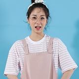 [플랩비]FLAPB - STRIPE OVERFIT T-SHIRTS (PINK)★와펜증정★ 반팔 반팔티 티셔츠 오버핏 트윈룩 스트라이프티 플랩비티셔츠