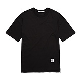 [플랩비]FLAPB - BASIC OVER FIT T-SHIRTS (BLACK)★와펜증정★ 반팔 반팔티 티셔츠 오버핏 트윈룩 무지티 플랩비티셔츠