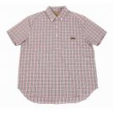 [램배스트] LAMBAST - Gingham check shirt(red) 반팔 셔츠 레드