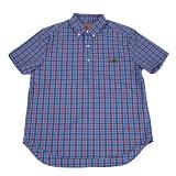 [램배스트] LAMBAST - Gingham check shirt(blue) 반팔 셔츠 블루