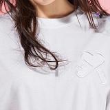 [플랩비]FLAPB - LOGO OVER FIT T-SHIRTS (WHITE)★와펜증정★ 반팔 반팔티 티셔츠 오버핏 트윈룩 무지티 플랩비티셔츠 자수티