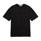 [플랩비]FLAPB - LOGO OVER FIT T-SHIRTS (BLACK)★와펜증정★ 반팔 반팔티 티셔츠 오버핏 트윈룩 무지티 플랩비티셔츠 자수티