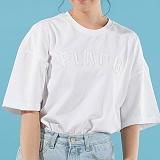[플랩비]FLAPB - FLAP.B OVERFIT T-SHIRTS (WHITE)★와펜증정★ 반팔 반팔티 티셔츠 오버핏 트윈룩 무지티 플랩비티셔츠 자수티