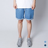 [뉴해빗]NUHABIT [N] - Vacance Denim Short Pants - 연청