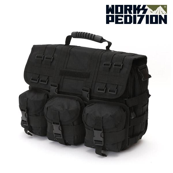 웍스페디션 제네바 전술 노트북 가방 블랙 밀리터리 가방 캠핑 여행