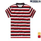 [크루클린] CROOKLYN 3색 스트라이프 반팔 티셔츠 TRS145 반팔티