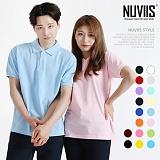 [뉴비스] NUVIIS - 남녀공용 심플 카라 반팔 티셔츠 (KH006TS ) 반팔 반팔티 티셔츠 카라티 PK티