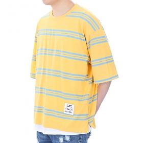 [쟈니웨스트] JHONNYWEST - [Boxerfit] W.Stripe (Yellow) 반팔티 티셔츠